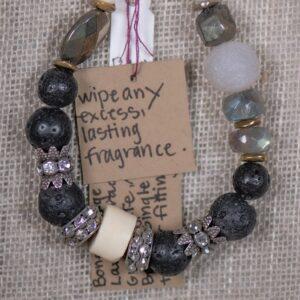 Rhinestone & Bone Bracelet
