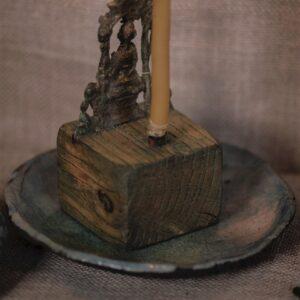 Old Nepal & Wood & Raku Incense Burner