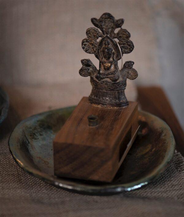 Seated Buddha incense burner