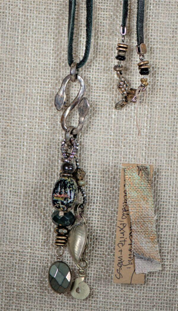 Sterling Snake Amulet necklace