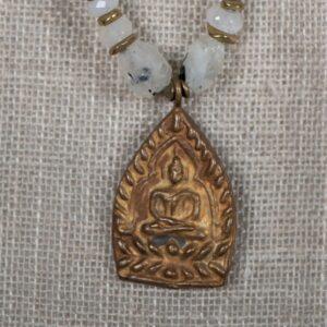 Blessed Amulet - Moonstones & Rutilated Quartz Choker