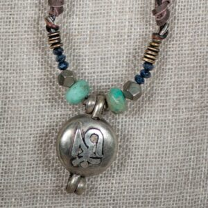 Tibetan Prayer Box & Chrysoprase Necklace