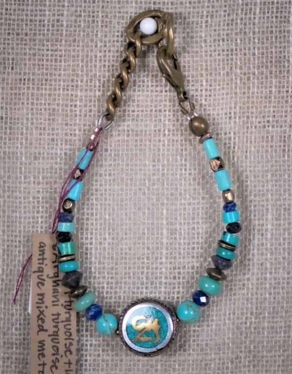Turquoise Tibetan Om