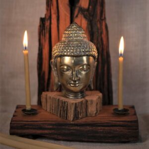 Buddha & Many Mountains Wood Incense - Candle Altar