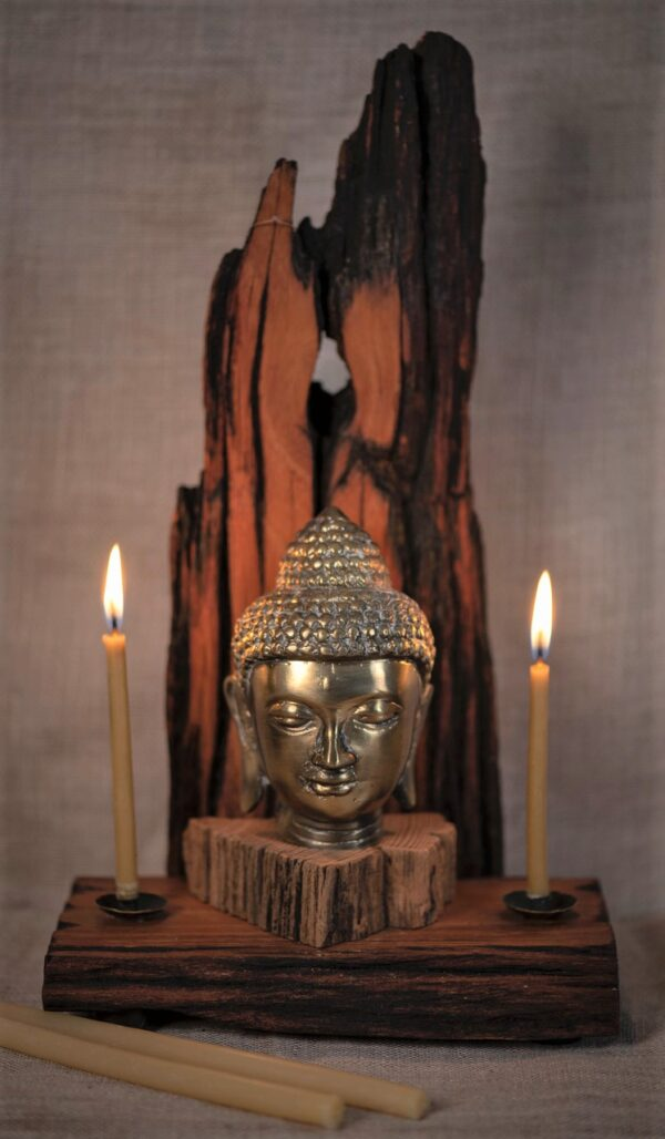 Buddha & Many Mountains Wood Incense - Candle Altar