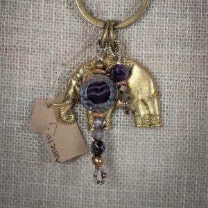 Brass Elephant Key Ring