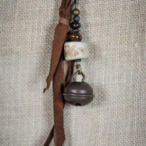 Hawk Bell & Antler Key Ring