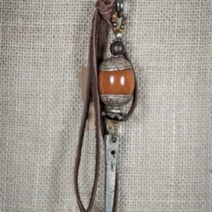 Tibetan Bead & Dagger Key Ring