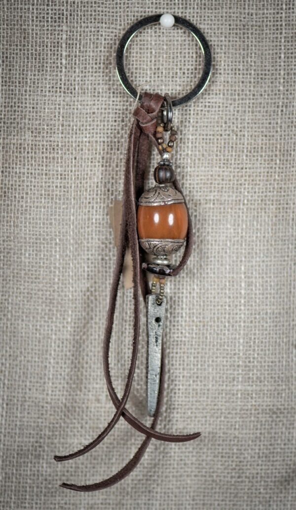 Tibetan Bead & Dagger Key Ring