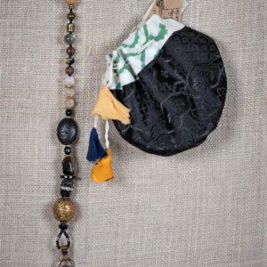 Brass Hamsa & Tibetan Bead