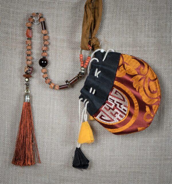 Burnt Orange & Henna Dyed Camel Bone