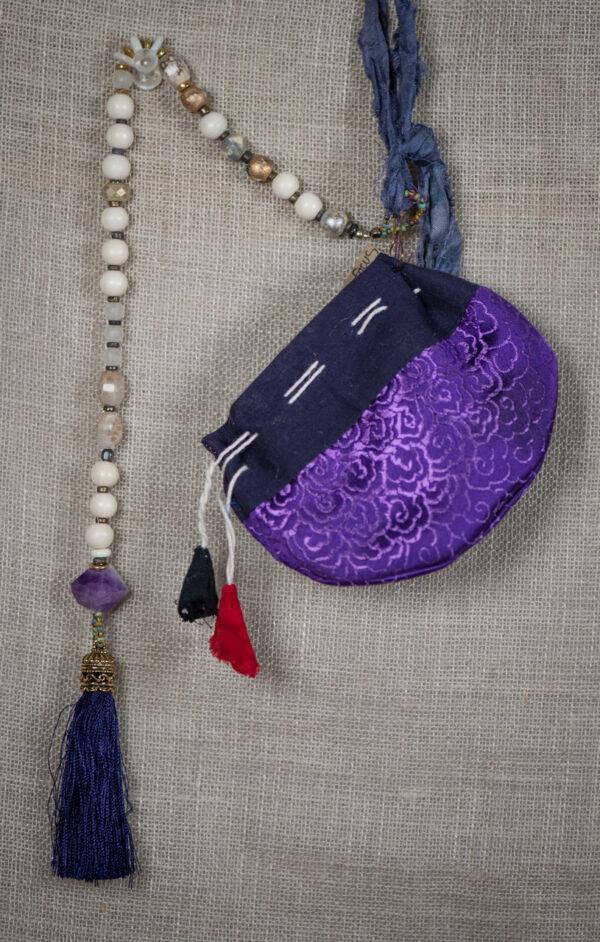 Violet Blue Tassel & Amethyst