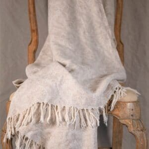 Damask LInen Throw