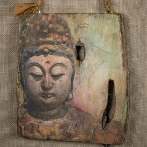 Buddha & Reclaimed Wood