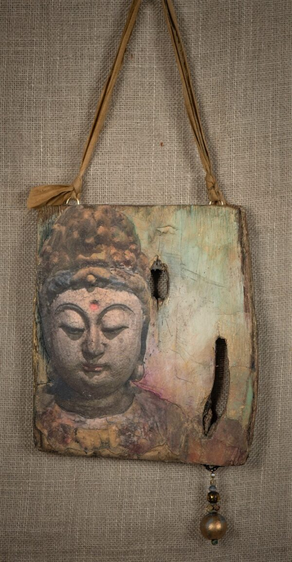 Buddha & Reclaimed Wood